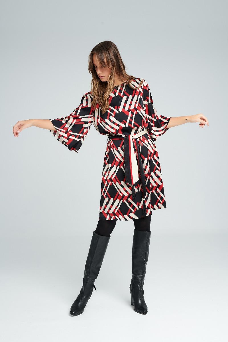 Φόρεμα σάκος με σχέδια