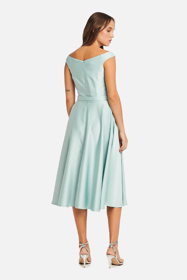 Φόρεμα σατέν εβαζέ