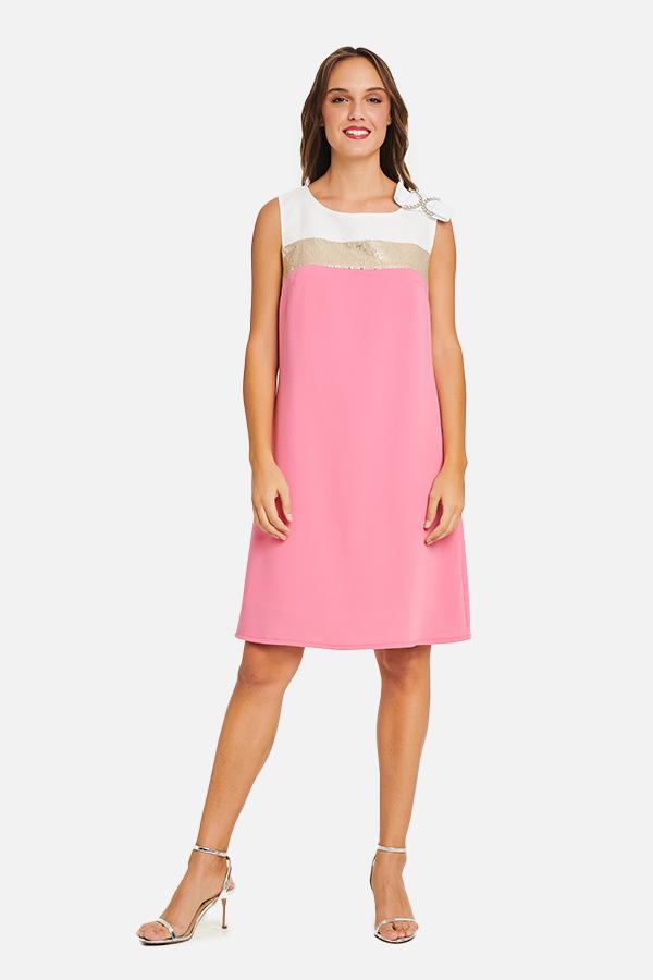 Φόρεμα κρεπ με φιόγκο