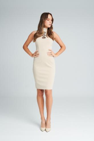 Φόρεμα lurex αμάνικο