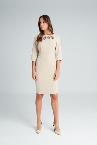 Φόρεμα lurex με μανίκια