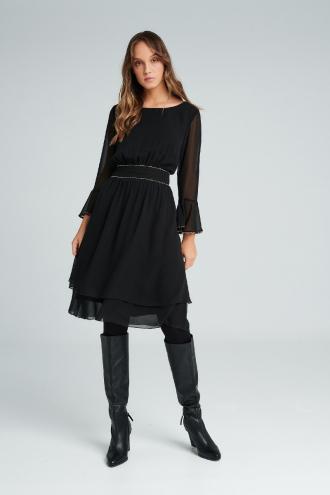 Φόρεμα μουσελίνα με αλυσιδάκι