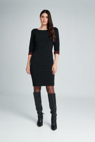 Φόρεμα ριπ με εσωτερικό animal print