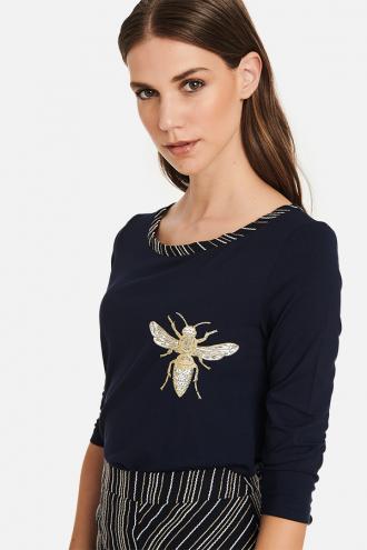 Μπλούζα ζέρσευ με τύπωμα μέλισσα