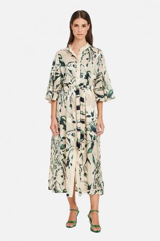 Φόρεμα maxi με κουμπιά πέρλες