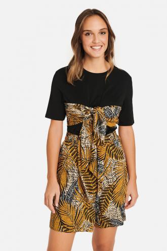 Μπλούζα ζέρσευ με φιόγκο άφρικα μπροστά