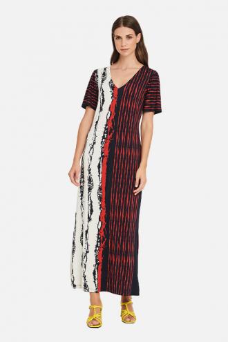 Φόρεμα ζέρσευ με σχισίματα