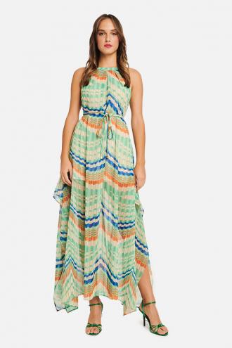 Φόρεμα maxi με ασυμμετρίες