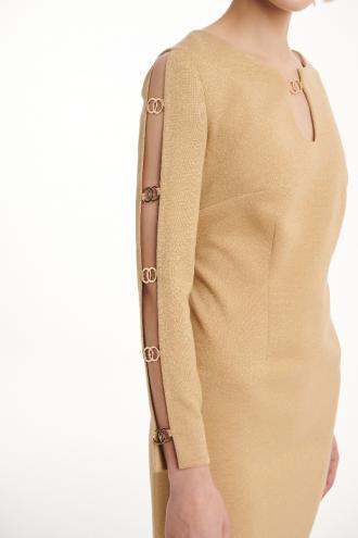 Φόρεμα lurex με σχίσιμο στα μανίκια