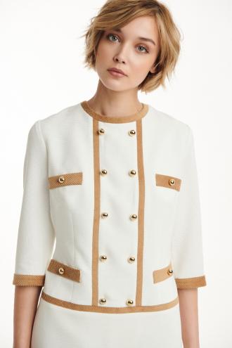 Φόρεμα κρεπ με κοτλέ ρέλι και χρυσά κουμπιά