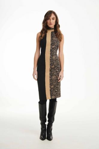 Φόρεμα αμάνικο punto με lurex